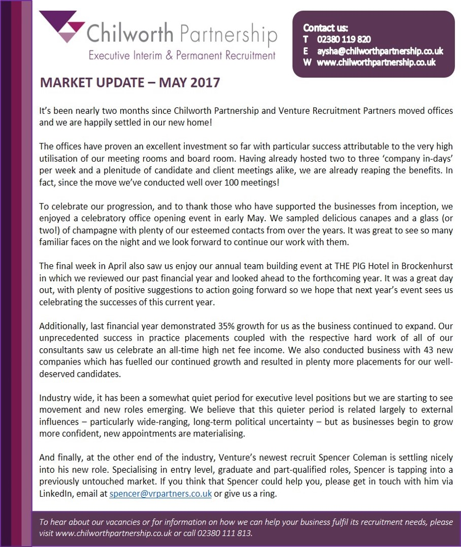Market Update May 2017 CP